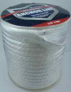 Attwood 11724-1 3/8 x 100 Ft Solid Braid Anchor Line with Thimble 17435