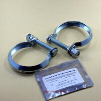 2 x Auspuffschelle für Katalysator Abgasrohr Schelle M10  Ø 73 mm+Zement im Set