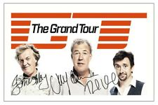 THE GRAND TOUR JEREMY CLARKSON HAMMOND JAMES MAY SIGNED PHOTO PRINT  AUTOGRAPH
