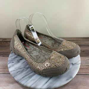 Skechers EZ Flex 3.0 Czarina Tan Crochet Slip On Comfort Flats Womens Size 10