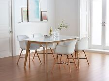 Dining Table and 4 Chairs - Retro - Scandinavian Style - White