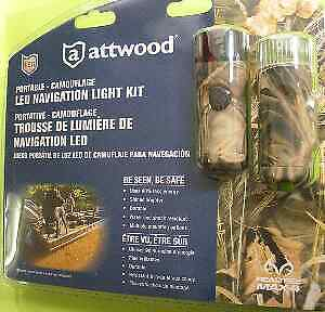 Attwood 14191-7 LED Bow Stern Light Kit Camo AAA Cell Battery Power 15178
