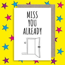 Sorry You're Leaving Greeting Card - New Job Card - I Miss You - Good Luck Card