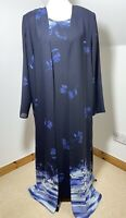 Collection First Avenue Size 14 Blue Mother Of The Bride Midi Dress Long Jacket