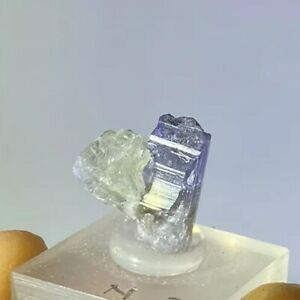 TANSANIT PREHNIT Roh Kristall (1.4gr) Tanzanit / Tanzanite Prehnite Crystal