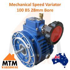 Mechanical Speed Variator Variable Dial Controller Motor 100 B5 28mm Bore