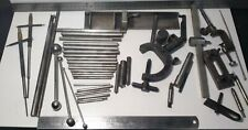Job lot of engineering clamps, gauges, attachments, tools