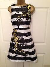 Gorgeous Coast Stripe Sleeveless Occasion Dress UK SIZE 16