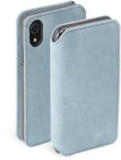 Krusell Broby 4 Card Book Case für Apple iPhone XR Blau Schutzhülle BRANDNEU