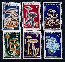 Mushrooms Congo Scott 208- 213 Mint Never Hinged