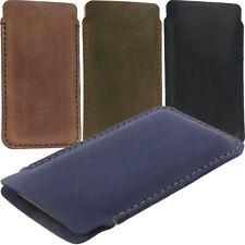 Cucito a mano in pelle case tascabile in Cuoio Cover Custodia Marsupio Per Telefoni