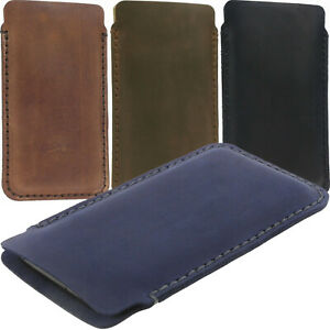 HANDSEWN MADE OF COWHIDE LEATHER POCKET CASE COVER SLEEVE POUCH FOR XIAOMI PHONE