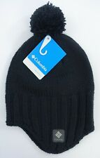 Men Columbia Beanie Hat Renegade Ride Earflap One Size Black