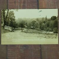 RPPC FALL RIVER MILLS CA Bosworth's Montgomery Creek California Vintage Postcard