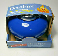 Decofire Outdoor Tabletop Fire Bowl Wide Flame Technology Island Lights BROWN