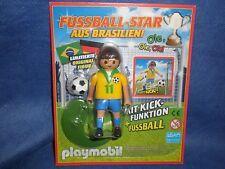 Playmobil Fussball Star Kicker Brasilianer Fussballer Neu in Blister new unopend