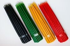 High Quality tapered dinner church candles 50 pcs Yellow, Black, Red, Green