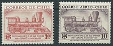 CHILE 1954 100 years 1st South American railroad Locomotive Sc.283 & Sc.C172 MNH