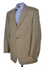 BROOKS BROTHERS Brown Blue Plaid Check Wool Blazer Sport Coat Jacket - 41 L