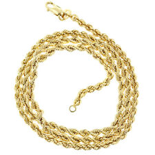 Gold 10k Chain Necklace Yellow 24 Pendant Rope 1 Diamond Cut Rope Gold Light 4mm