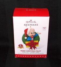 Hallmark Keepsake Ornament MERRY CRISTMAS FOLKS -PORKY PIG Sound - 2015
