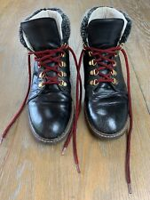 Russel & Bromley black lace up winter boots with faux fur top Size EUR 37. (UK4)