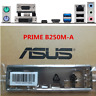 IO Shield Back Plate BackPlate Blende Bracket for ASUS PRIME B250M-A