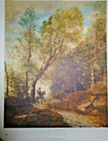 "VINTAGE LITHOGRAPH PRINT JEAN BAPTISTE CAMILLE COROT FOREST OF COUBRON 28"" X 35"""