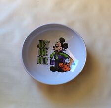 Authentic Disney Parks Mickey Mouse Vampire Halloween Candy Bowl Just One Bite
