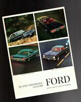 1964 Ford PERFORMANCE{Muscle}Cars Brochure:FALCON,FAIRLANE,GALAXIE 500,XL,T-BIRD