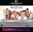 350GSM DOUBLE BED QUILT DOONA DUVET BLANKET Sainsburys High Loft MICROFIBRE FILL