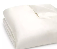 Gingerlily Silk Solid Duvet Cover, King Color:Ivory - NWT