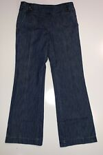 Signature Wide Womens Bottoms Stretch Blue Denim Pants Size 6 / 28 Inseam 32