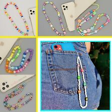 Smiley Face Bead Hanging Strap Phone Charms For iPhone 13 12 PRO MINI 11 XS MAX
