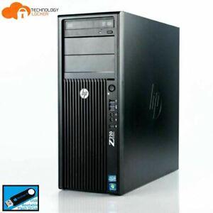 HP Z220 Workstation Tower Intel E3-1270 v2 @3.50GHz 8GB RAM 160GB SSD Win 10