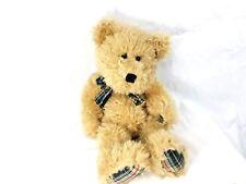 "BOYDS BEAR J. B. BEAN Brown 18"" Stuffed Animal PLUSH with TAG Bow Plaid Accents"