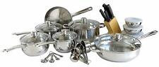 Freedom Gourmet Cookware 31-pc Stainless Steel Kitchen Ensemble