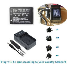 Battery +Charger for Panasonic Lumix DMC-3D1, TZ6, TZ7, TZ8, TZ9 DMW-BCG10E