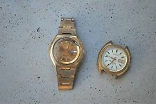 2 VINTAGE SEIKO BELLMATIC WATCHES WATCH FOR PARTS OR REPAIR4006-6049 AND 7002