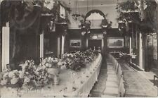 BRISTOL ROYAL VISIT Art Gallery Luncheon Room Tables Vintage Photo PC c1908