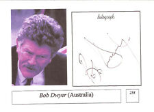 Bob Dwyer AUSTRALIA RUGBY COACH SIGNED PHOTO CARD