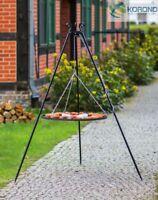 Korono Dreibein Schwenkgrill, Höhe 180 cm, Gartengrill, Rost Ø 50 cm, Handmade