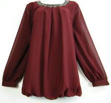 Women's Polyester Plus Size Tunics without Pattern