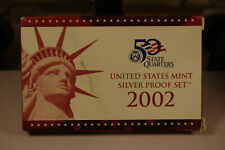 2002-S United States Mint Silver Proof Set, Complete with Box and COA