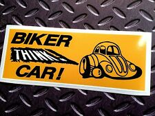 BIKER THINK CAR Motorcycle Safety Awareness Sticker Decal 1 off 170mm