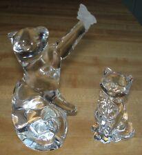 Lenox Gentle Friends Cat & Butterfly Figurine & Daydreams Cat Figurine Crystal