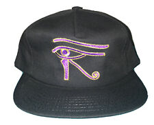 Vintage Stargate Snap Back Hat Cap Black Purple Eye 90s 1994 Show Movie Sci Fi