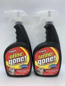 2 Original Urine Gone Stain & Odor Eliminator Sprays 24 oz Each
