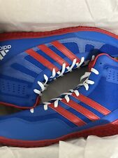 Adidas Men's Mat Wizard 3 Blue And Red Wrestling Shoes Size 10