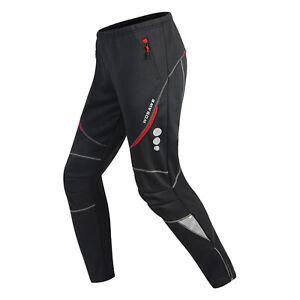 Men Cycling Trousers Fleece Thermal Mountain Bike Windproof Tights Long Pants
